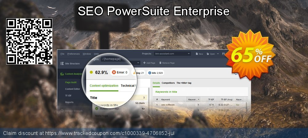 SEO PowerSuite Enterprise coupon on Mid-year discounts