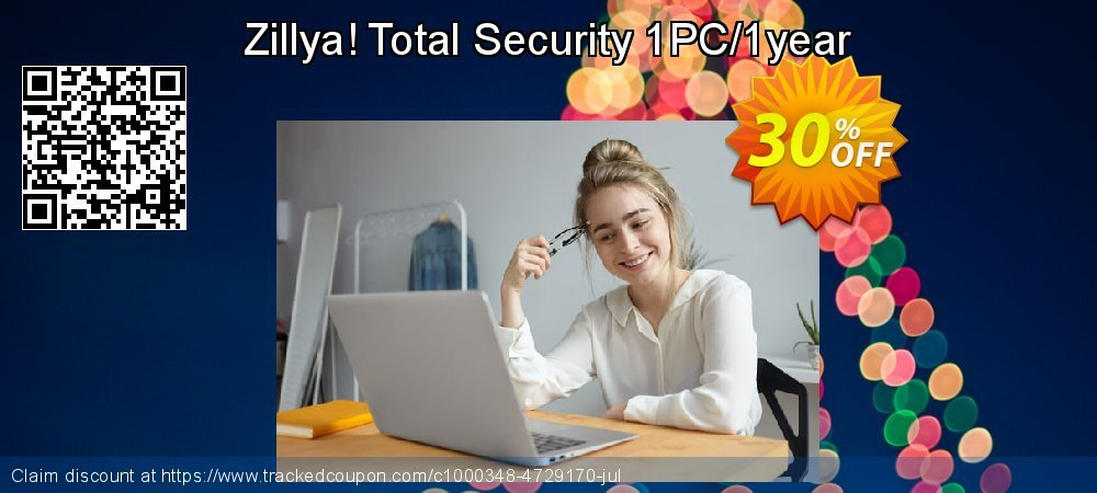 Get 20% OFF Zillya! Total Security 1PC/1year offering sales