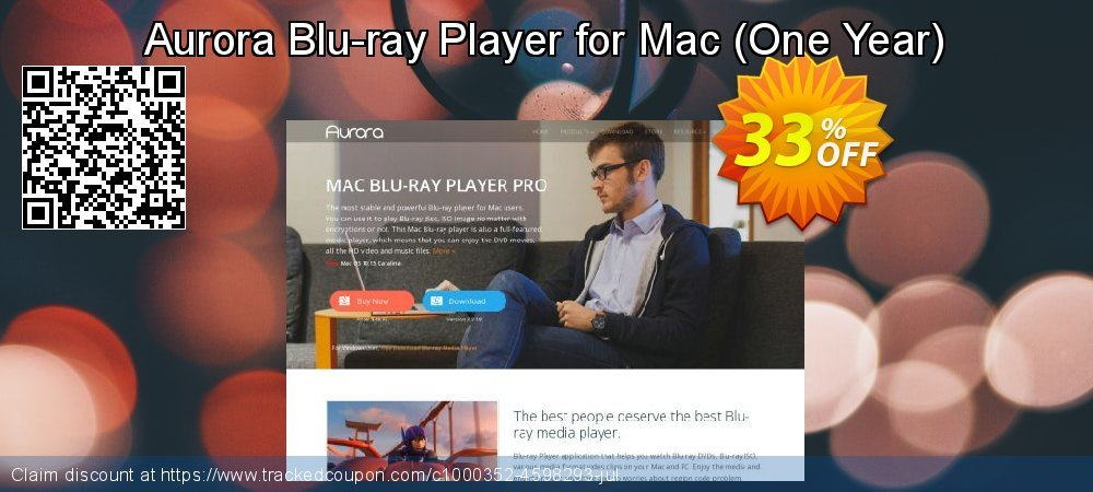 Aurora Blu-ray Player for Mac - One Year  coupon on National Cleanup Day offering discount
