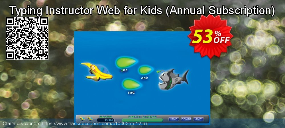 Typing Instructor Web for Kids - Annual Subscription  coupon on World Bollywood Day super sale