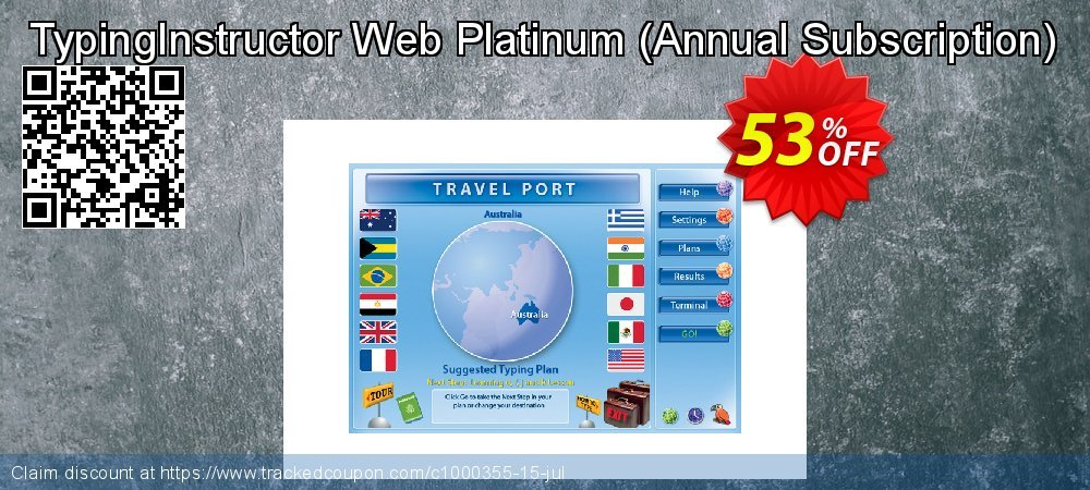 TypingInstructor Web Platinum - Annual Subscription  coupon on Talk Like a Pirate Day sales