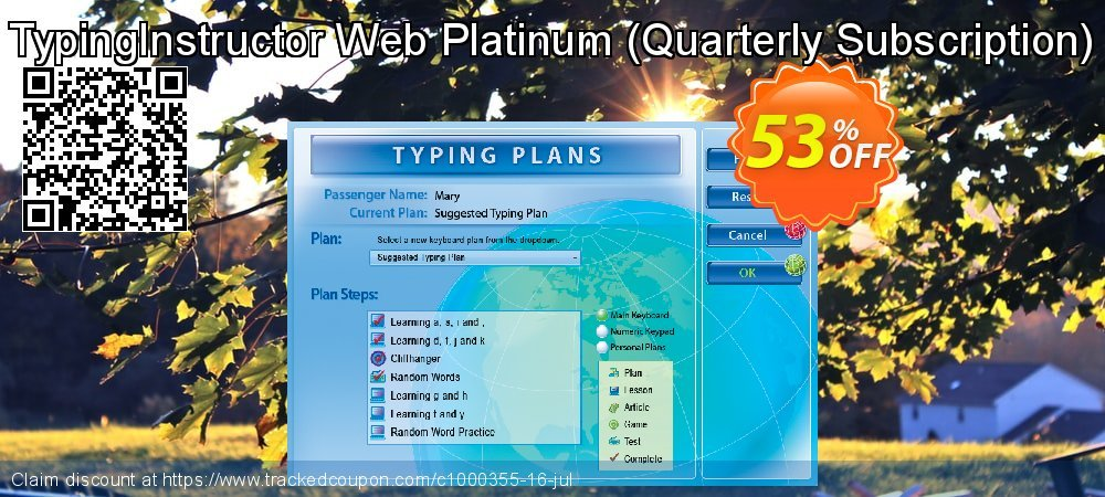 TypingInstructor Web Platinum - Quarterly Subscription  coupon on IT Professionals Day deals