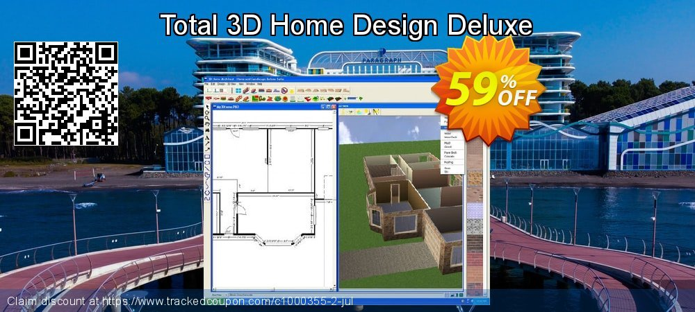 Total 3D Home Design Deluxe coupon on National Family Day offering sales