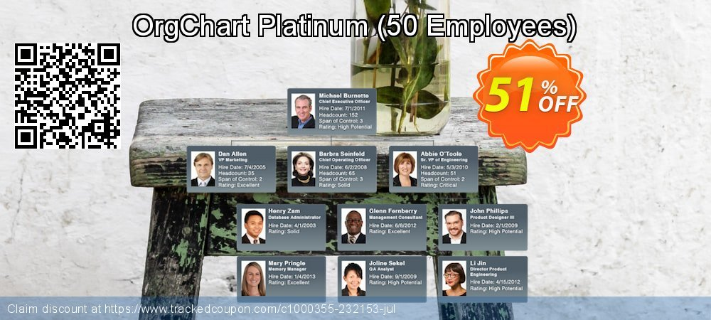 OrgChart Platinum - 50 Employees  coupon on Wildlife month deals