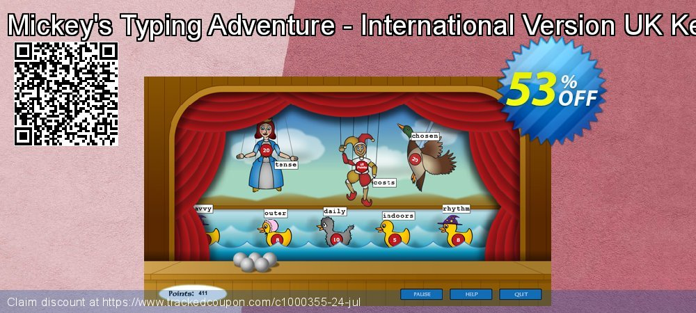 Disney: Mickey's Typing Adventure - International Version UK Keyboard coupon on Sexual Health Day sales