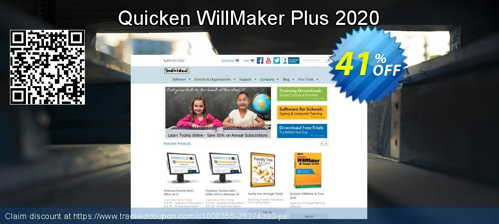 Quicken WillMaker & Trust 2020 coupon on Back to School promo deals