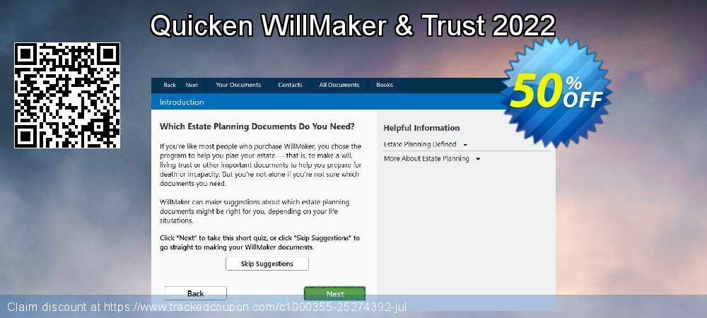 Quicken WillMaker & Trust 2020 coupon on New Year offer