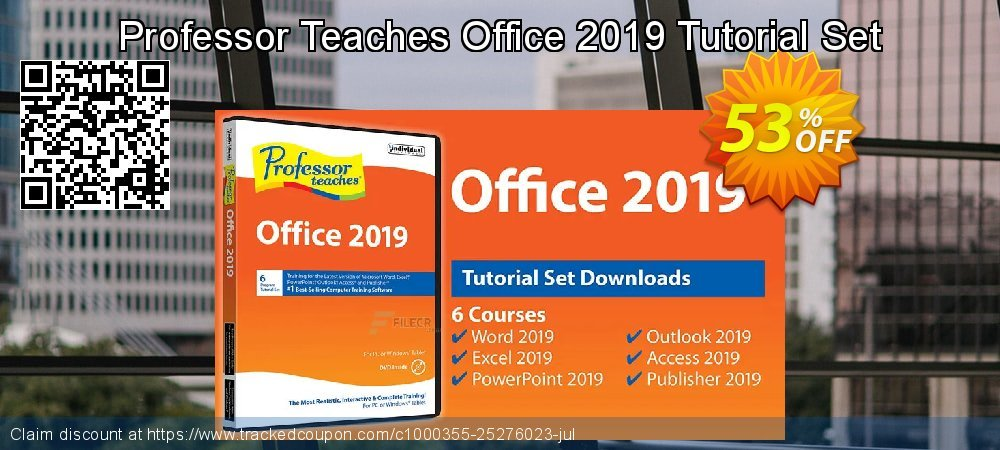 Professor Teaches Office 2019 Tutorial Set coupon on World Teachers' Day offering discount