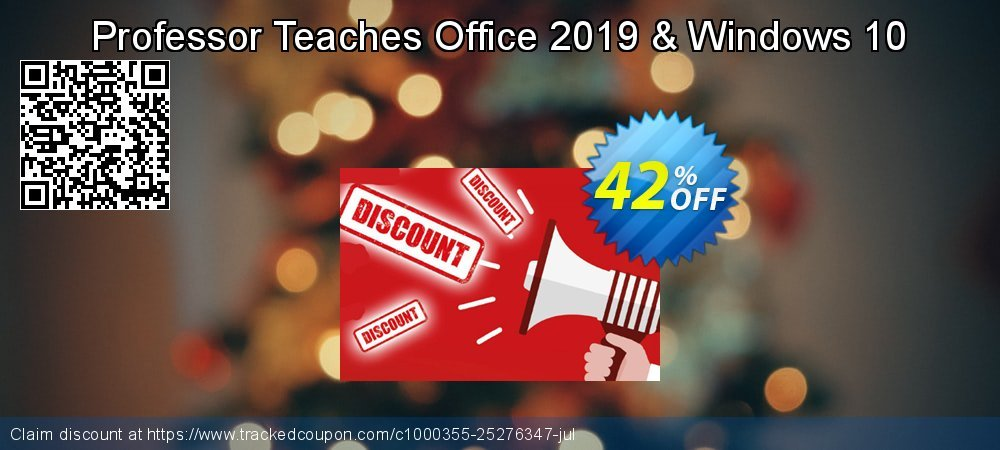 Professor Teaches Office 2019 & Windows 10 coupon on Back to School promo discount