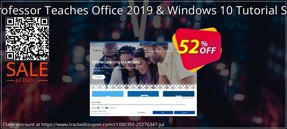 Professor Teaches Office 2019 & Windows 10 Tutorial Set coupon on Mid-Autumn Moon discount