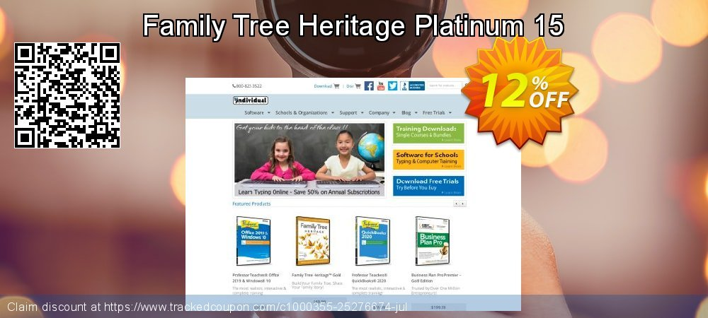 Family Tree Heritage Platinum 15 coupon on Back to School shopping super sale