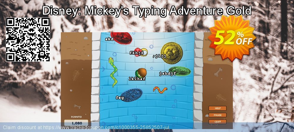 Disney: Mickey's Typing Adventure Gold coupon on National Coffee Day deals