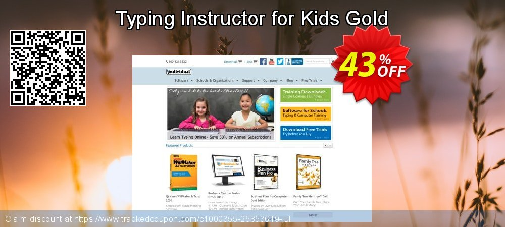 Typing Instructor for Kids Gold coupon on Black Friday promotions