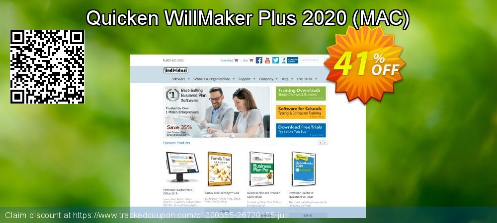Quicken WillMaker & Trust 2020 - MAC  coupon on Back to School promotion promotions