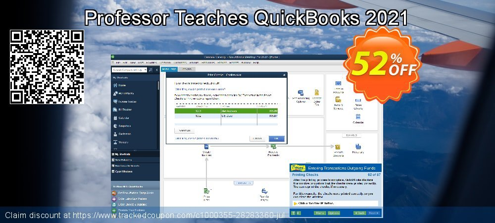 Professor Teaches QuickBooks 2021 coupon on American Chess Day promotions