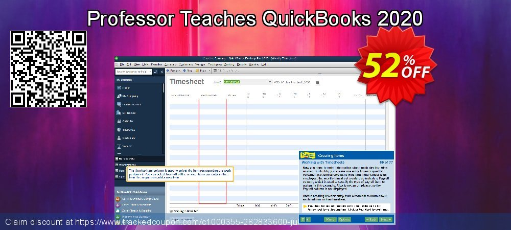 Professor Teaches QuickBooks 2020 coupon on Native American Day promotions
