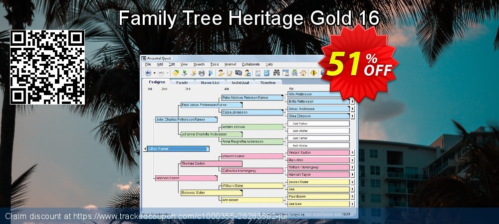 Family Tree Heritage Gold 16 coupon on American Chess Day offering sales