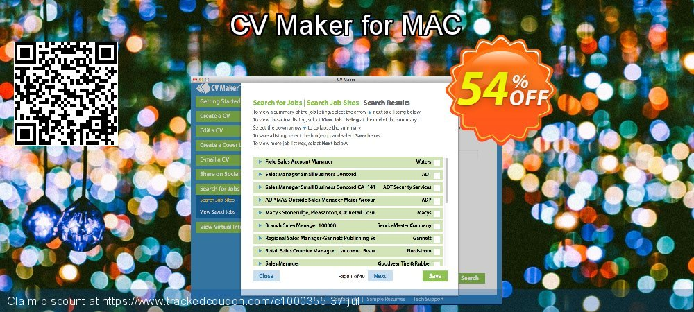 CV Maker for MAC coupon on Lazy Mom's Day offering discount