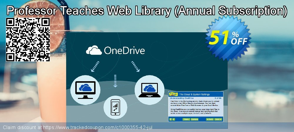Get 40% OFF Professor Teaches Web Library (Annual Subscription) offering sales