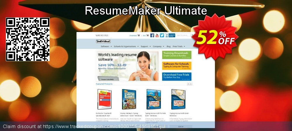 ResumeMaker Ultimate coupon on Back-to-School event offering sales