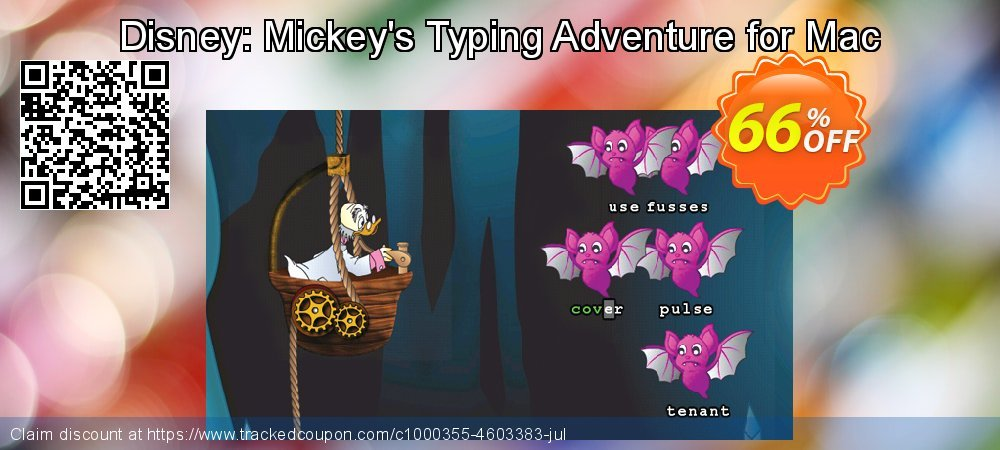 Get 65% OFF Disney: Mickey's Typing Adventure for Mac offering sales