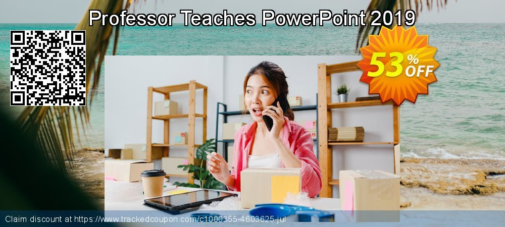 Professor Teaches PowerPoint 2019 coupon on Back to School offer