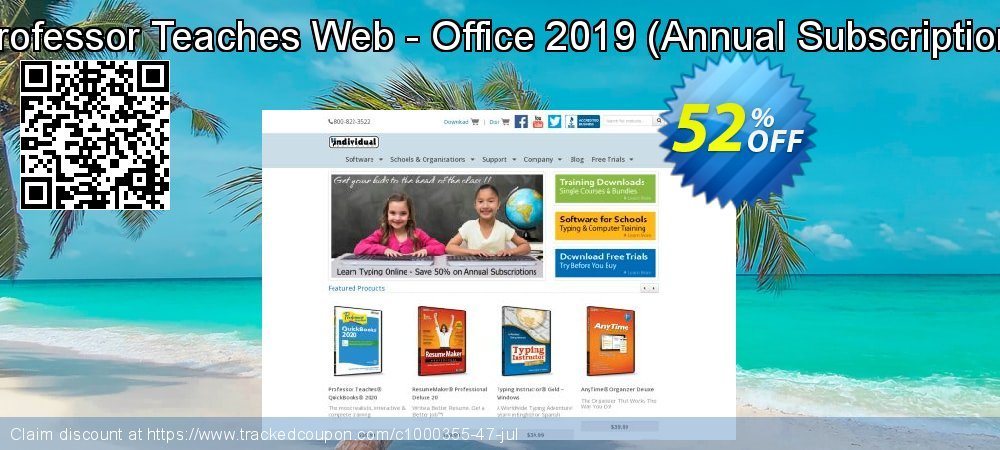 Professor Teaches Web - Office 2019 - Annual Subscription  coupon on Super bowl discounts