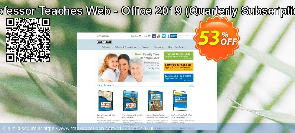 Professor Teaches Web - Office 2019 - Quarterly Subscription  coupon on National Cleanup Day super sale