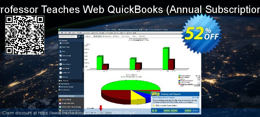Professor Teaches Web QuickBooks 2019 - Annual Subscription  coupon on Valentine Week deals