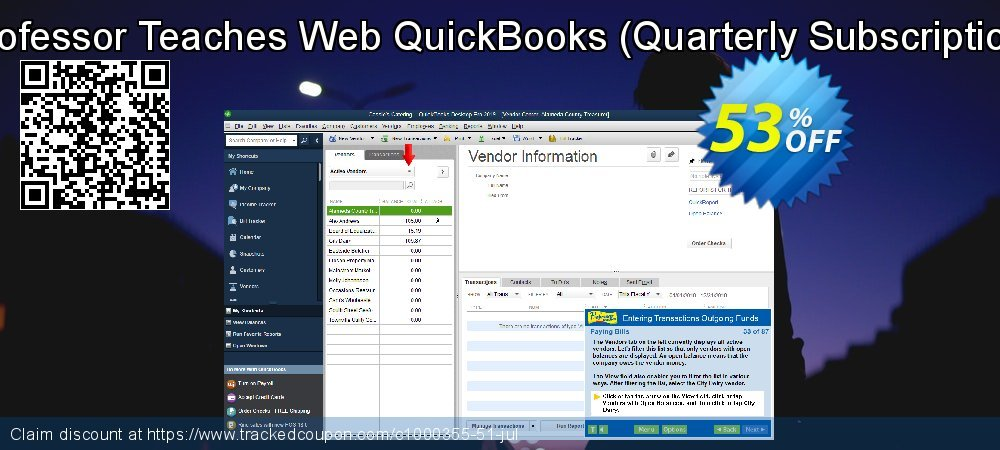 Professor Teaches Web QuickBooks 2019 - Quarterly Subscription  coupon on Natl. Doctors' Day discount