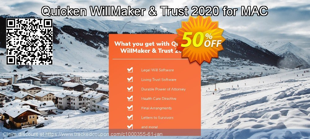 Quicken WillMaker & Trust 2021 for MAC coupon on New Year's Day offer