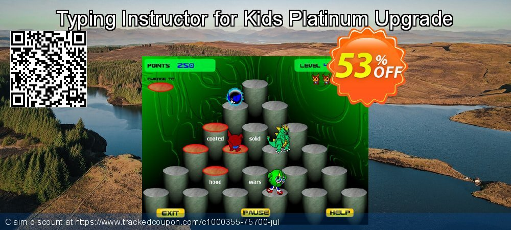Typing Instructor for Kids Platinum Upgrade coupon on Autumn offering discount