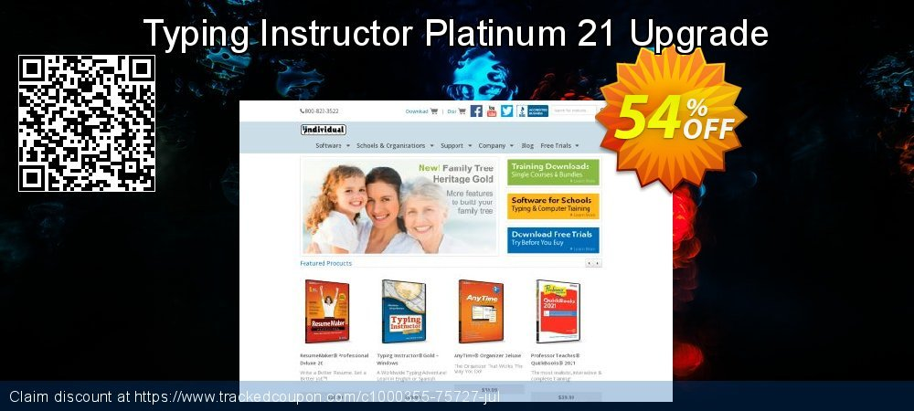 Typing Instructor Platinum 21 Upgrade coupon on National Cleanup Day offering discount