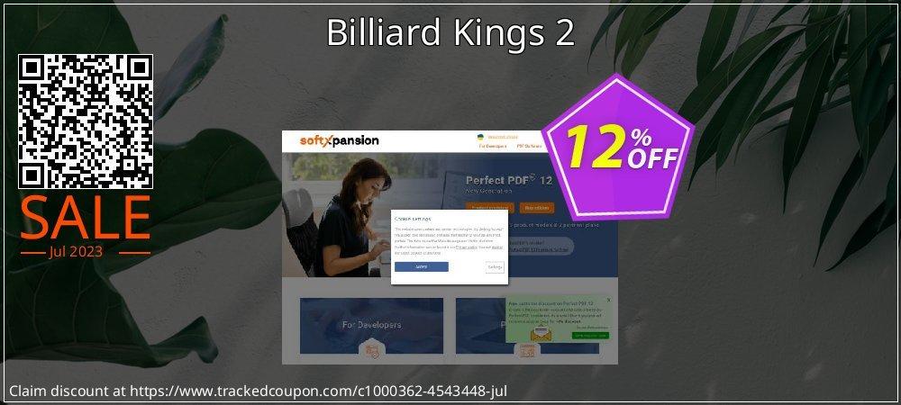 Get 10% OFF Billiard Kings 2 offering sales