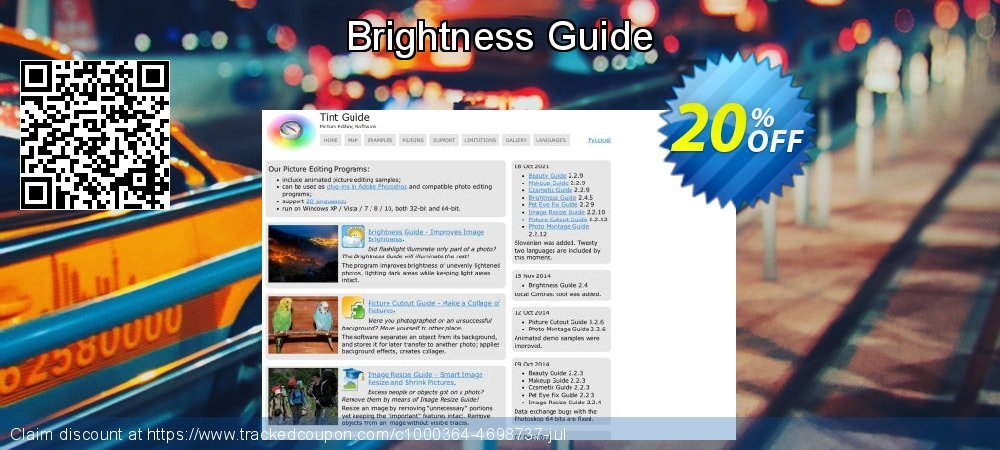 Get 20% OFF Brightness Guide promo