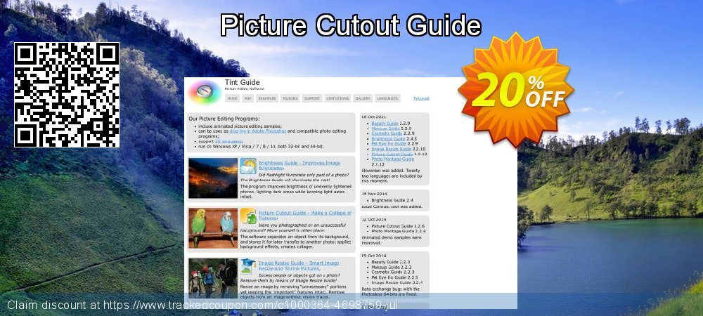 Get 20% OFF Picture Cutout Guide offering sales