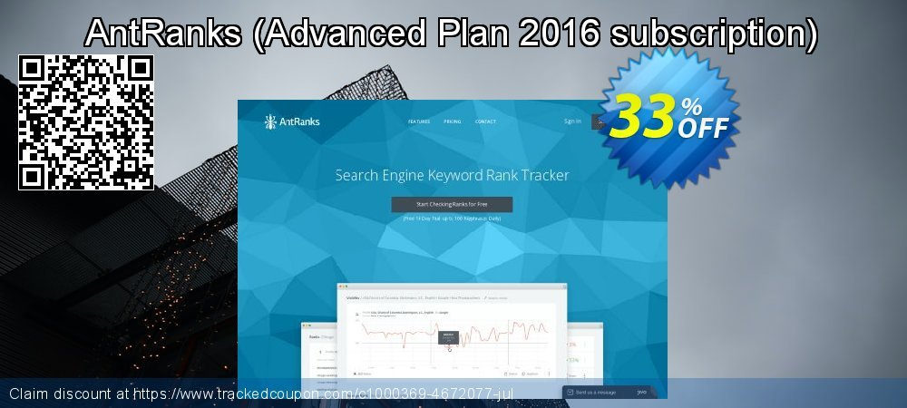 AntRanks - Advanced Plan 2016 subscription  coupon on April Fool's Day offer
