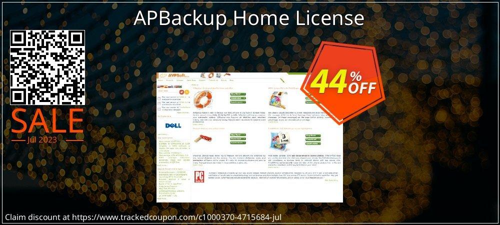 Get 30% OFF APBackup Home License sales