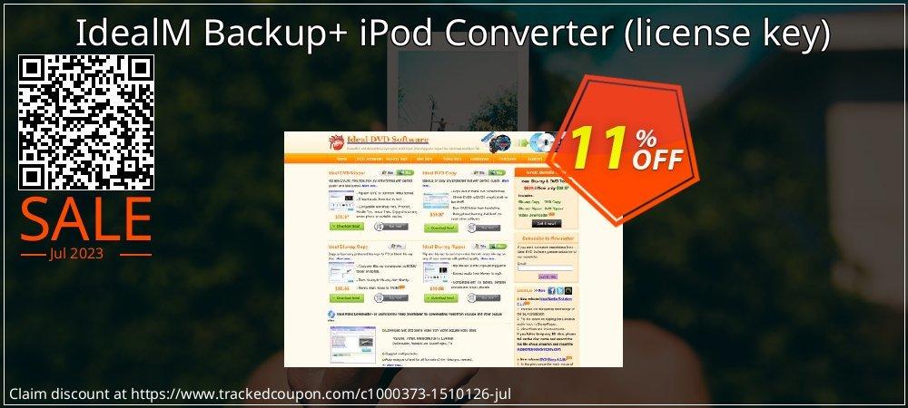 IdealM Backup+ iPod Converter - license key  coupon on University Student deals deals