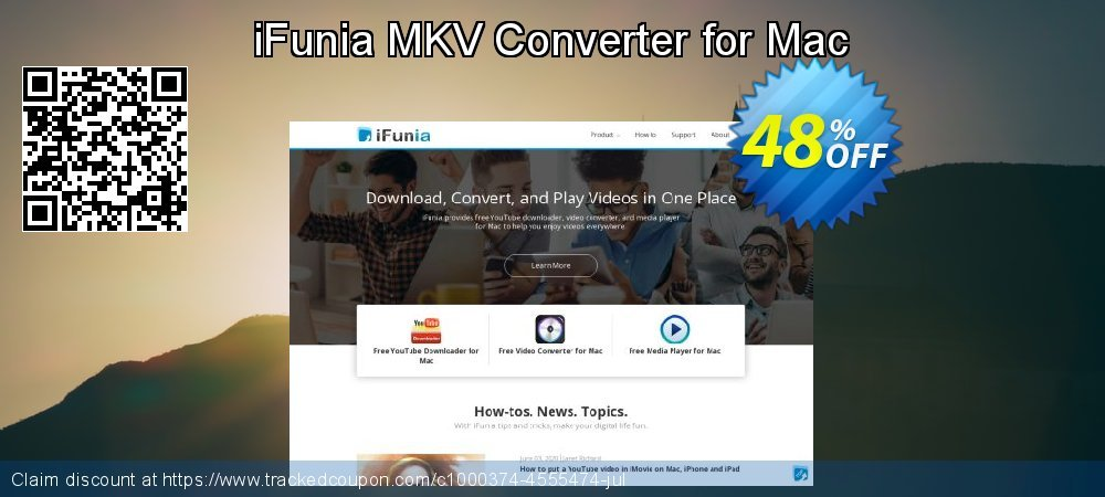Get 30% OFF iFunia MKV Converter for Mac offer