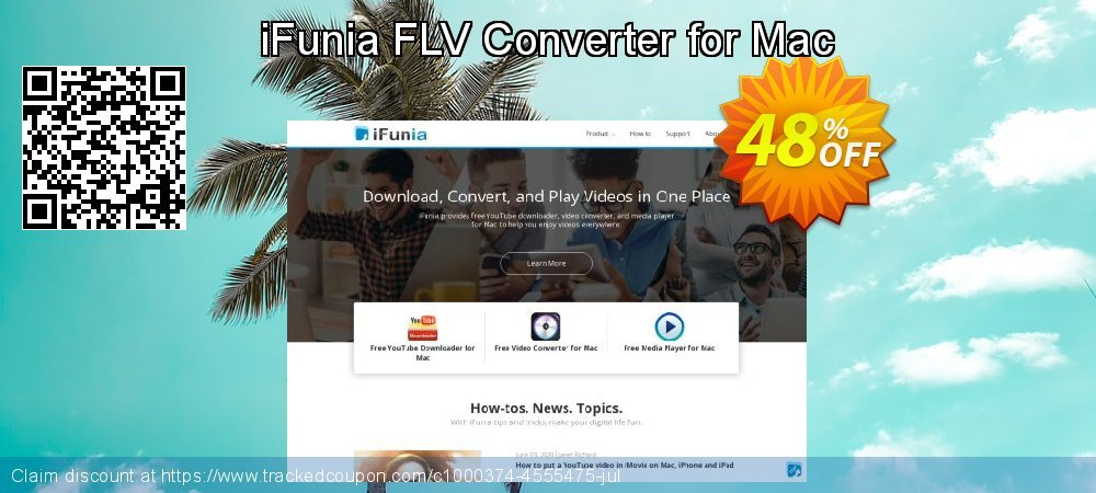 iFunia FLV Converter for Mac coupon on Lunar New Year offering discount