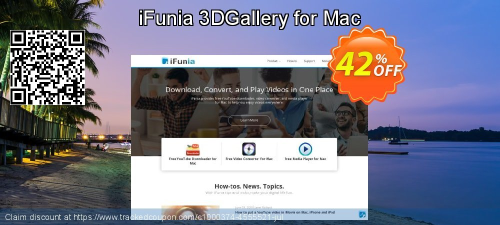 Get 30% OFF iFunia 3DGallery for Mac offering sales