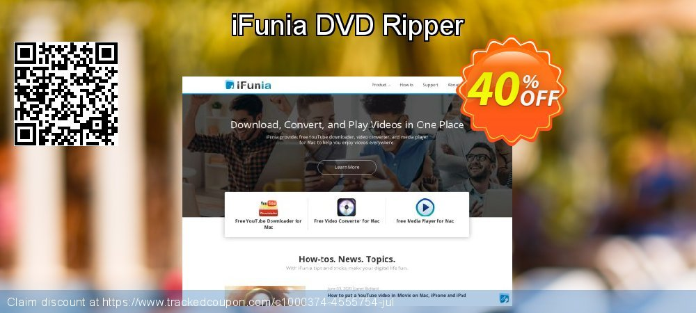 Get 30% OFF iFunia DVD Ripper offering sales