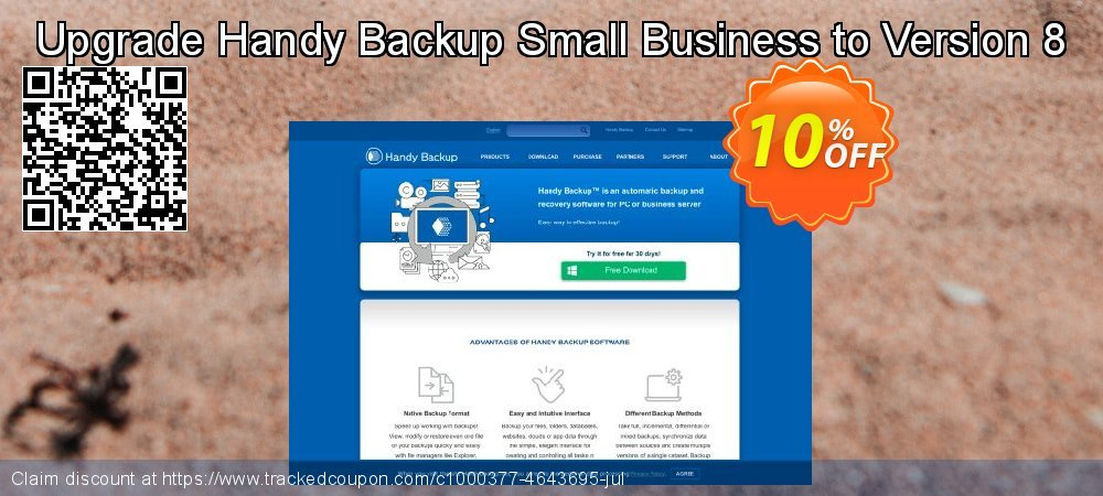 Upgrade Handy Backup Small Business to Version 8 coupon on Read Across America Day offer