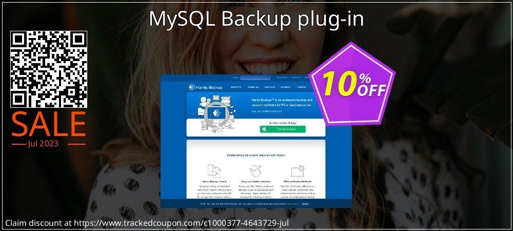 Get 10% OFF MySQL Backup plug-in promo