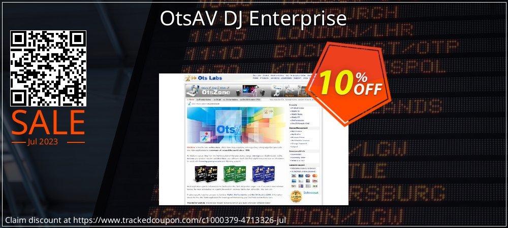 OtsAV DJ Enterprise coupon on Back-to-School event promotions