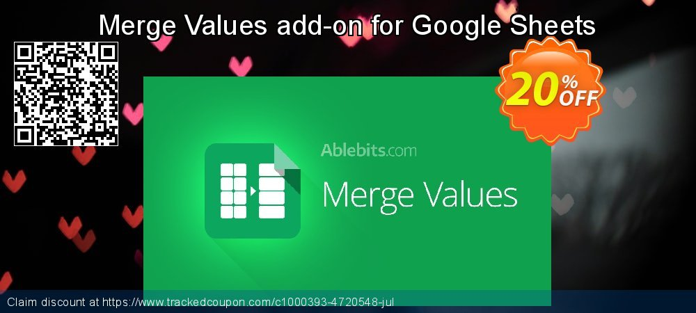 Get 20% OFF Merge Values add-on for Google Sheets, 12-month subscription offering deals