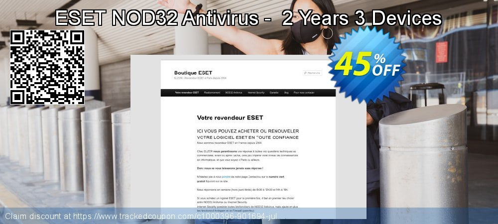 NOD32 Antivirus - Nouvelle licence 2 ans pour 3 ordinateurs coupon on Thanksgiving discount