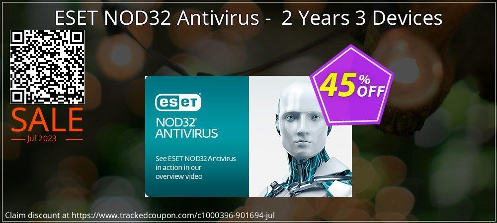 Get 45% OFF ESET NOD32 Antivirus - 2 Years 3 Devices promo sales