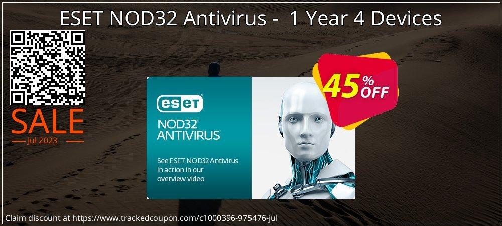 NOD32 Antivirus - Nouvelle licence 1 an pour 4 ordinateurs coupon on Thanksgiving discount